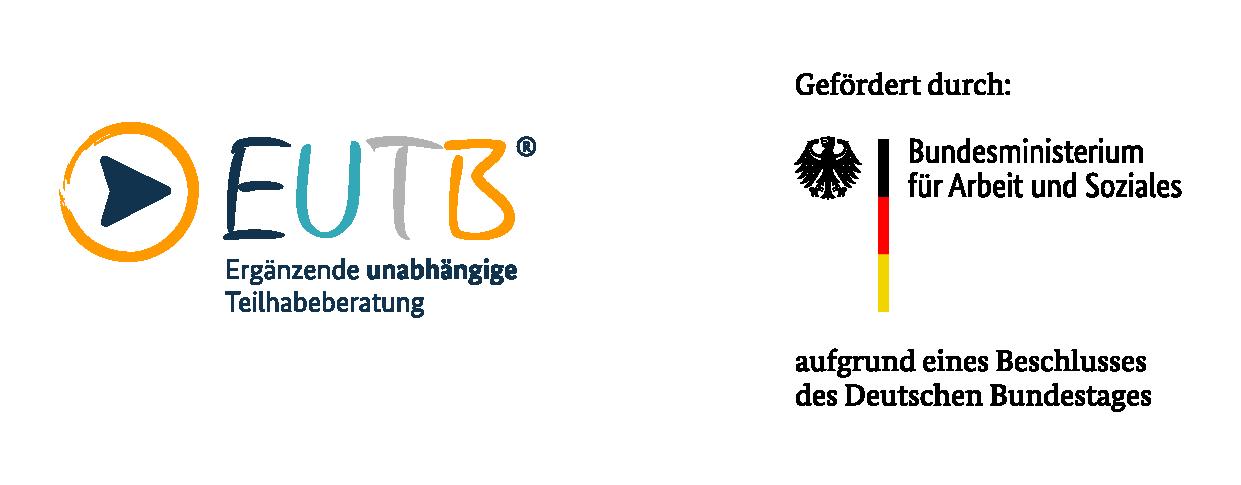 EUTB Logo mit Förderzusatz durch das BMAS